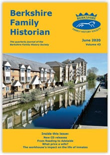 Front cover of the Berkshire Family Historian magazine for June 2020