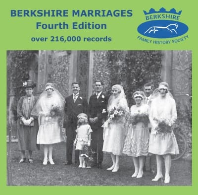 Berkshire Marriages (4th Edition) CD