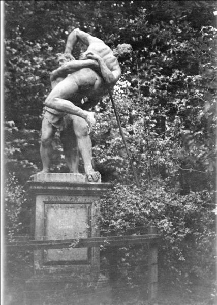 Cain and Abel Statue (Courtesy of Reading Library Local Studies Collection)