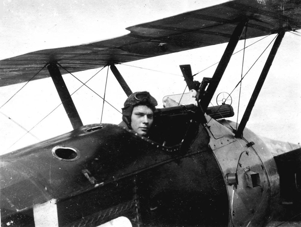 Charles in a Sopwith Camel in Italy c1918