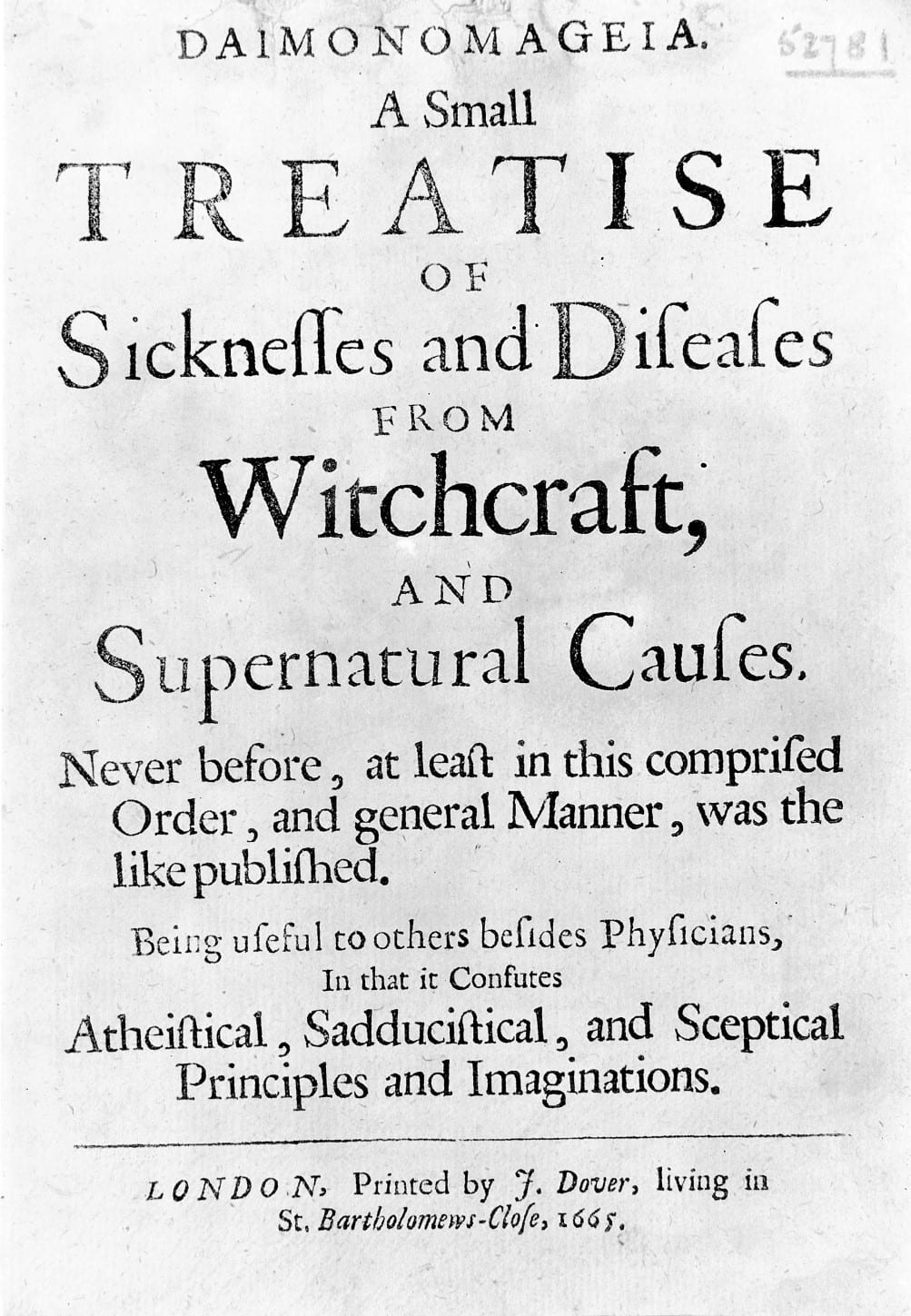 A Witchcraft Accusation in 17th Century Reading