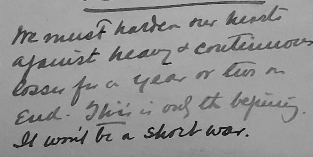 Henry's Letter 3 Oct 1914 postscript