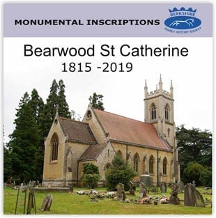 Bearwood, St. Catherine Monumental Inscriptions 1815 – 2019 CD