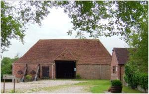 Eighteenth-century, Grade II listed barn at Elm Farm, rebuilt in 2008