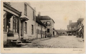 Kintbury Station Road, a Righton postcard of c1900