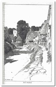 East Hendred drawn by F L Griggs at the turn of the twentieth century