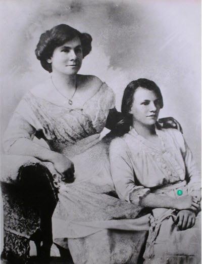 Annie Parker and her daughter Violet Parker