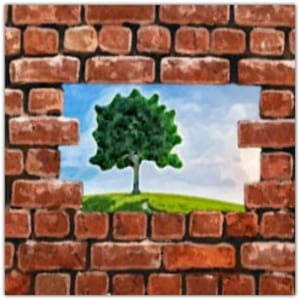 Breaking a brick wall