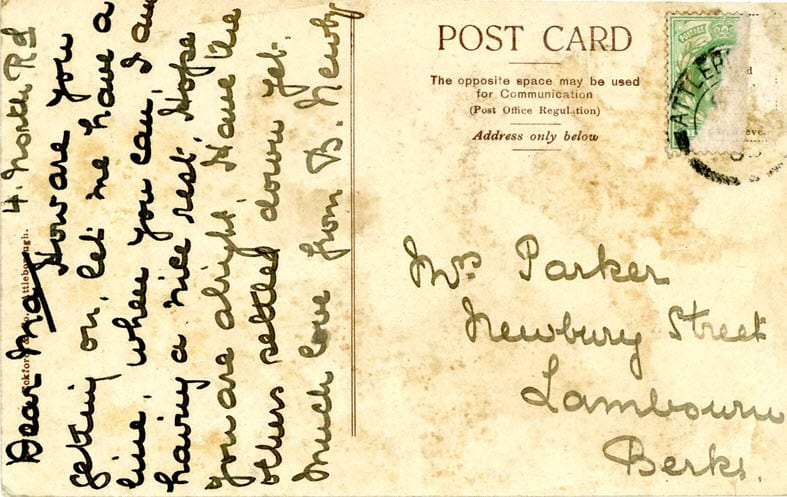 """Lambourn Family and """"Dear Ma"""" Postcards"""